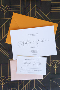 Amber wedding invitations
