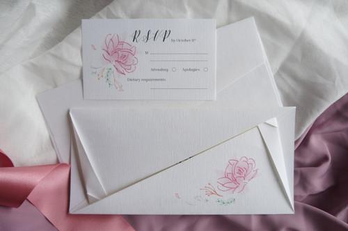 Origami wedding invitations