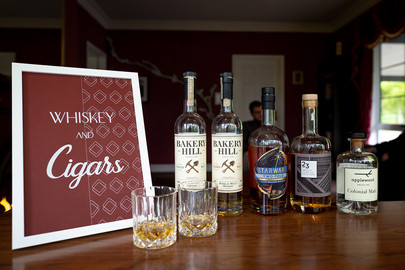 Whiskey and cigars sign