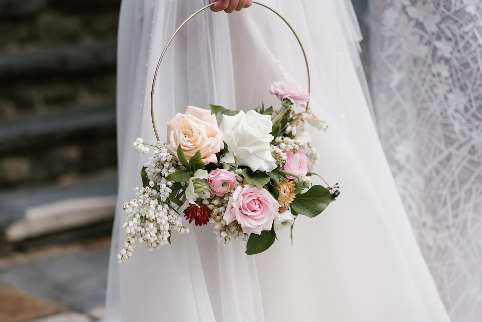 Wedding floral hoop