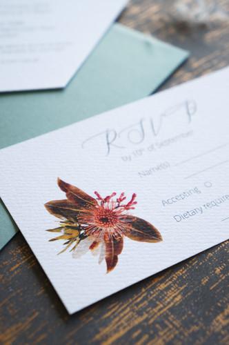 Australian native floral invitations