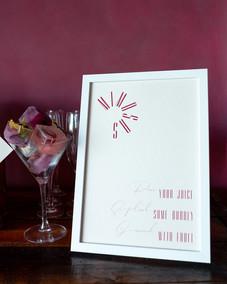Mimosa bar wedding signage