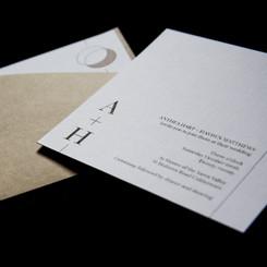Modern contemporary natural wedding invitations