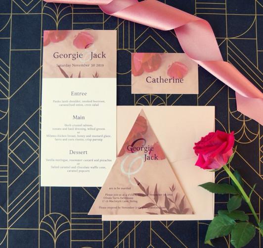 Unique wedding invitations
