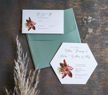 Australian native wedding invitations
