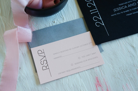 Sophisticated wedding invitations
