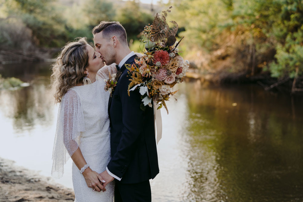 Wedding by the river