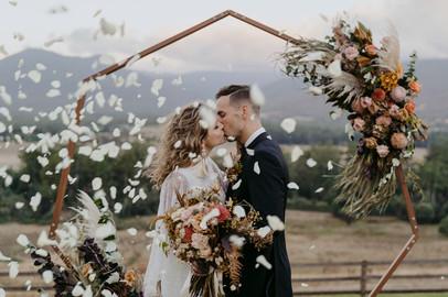 Romantic arbour wedding ceremony