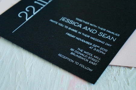 Timeless wedding invitations