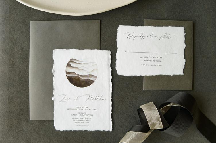Black and white elegant invitations