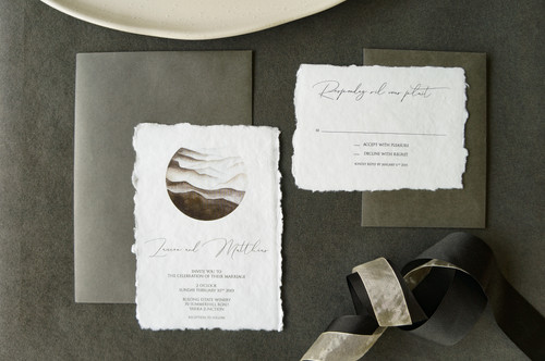 Black and white elegant invitations