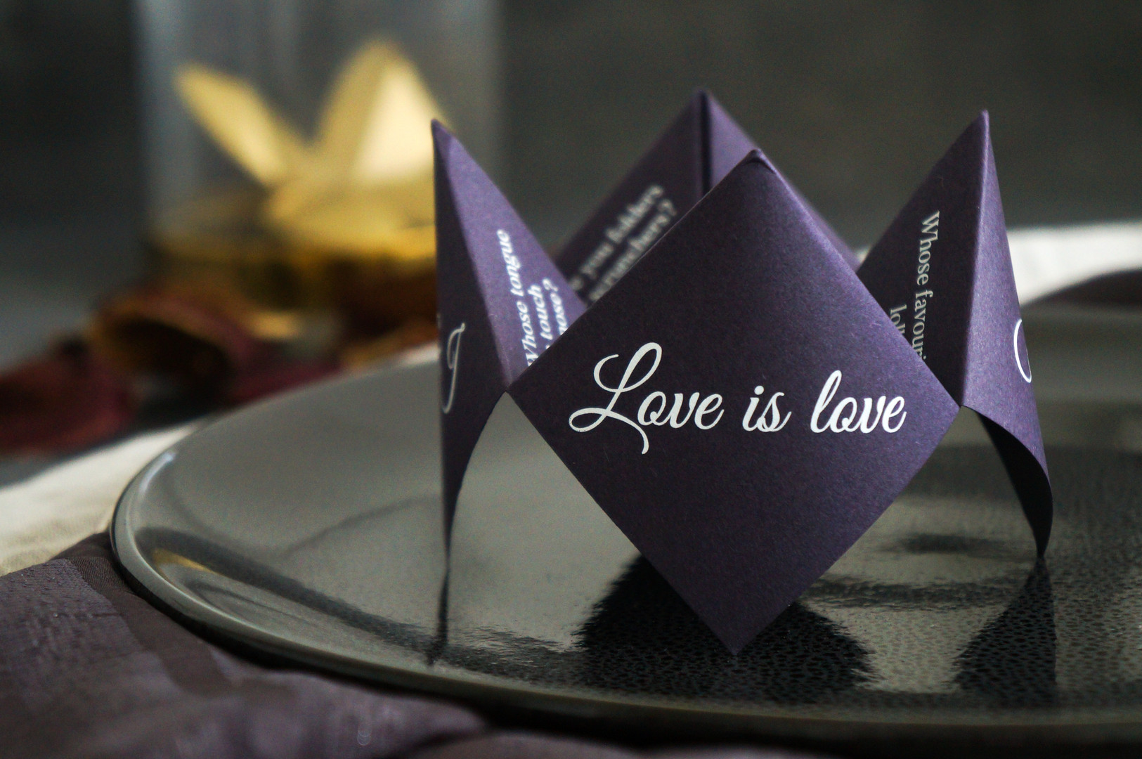 Chatterbox fortune teller place card