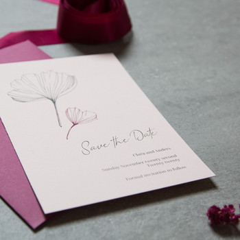 Pink save the dates