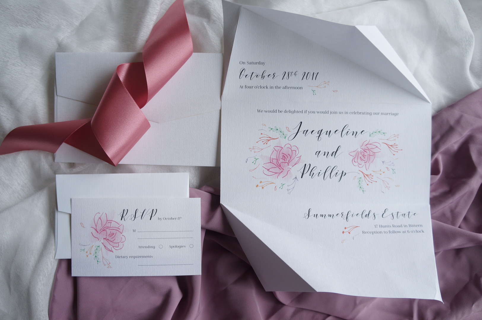 Origami invitations
