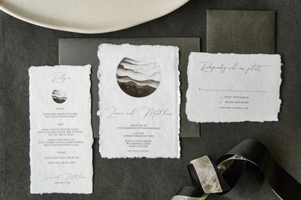 Indie handmade wedding invitations