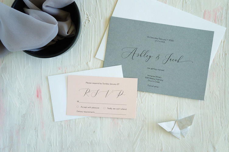 Coloured wedding invitations