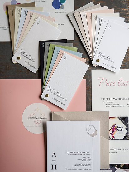 Unique invitations sample pack