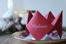 Origami place card