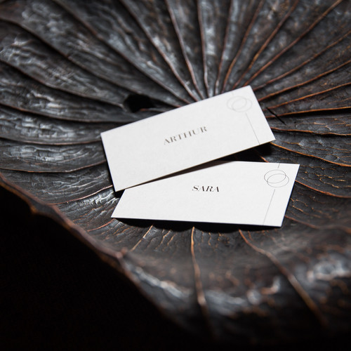 Natural style place cards