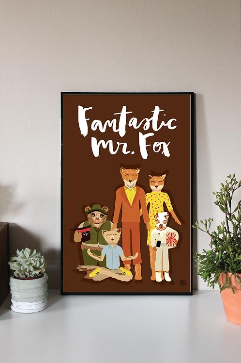 FANTASTIC MR FOX   DIGITAL PRINT
