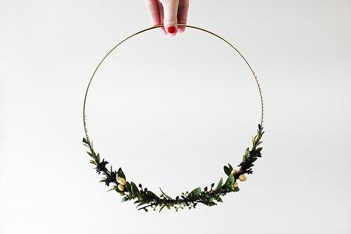 mustard berry wreath