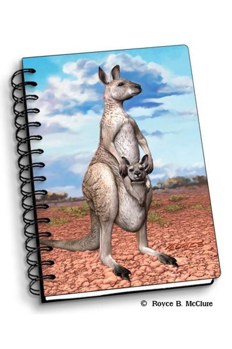 3D Notebook: Kangaroo with Joey