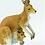 Thumbnail: Kangaroo with Joey Figurine