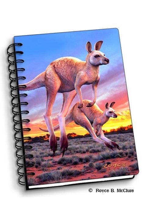 3d Notebook: Hopping Roos