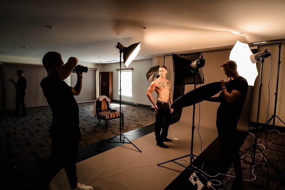BP Productions Photostatting Mr. South Africa 2021 Contestants at The Team Saint Studio (Sainte Studio)