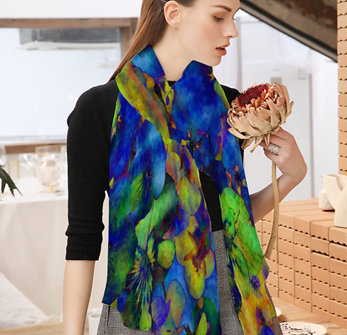 Floral Chiffon Scarf from the Efflorescence Collection