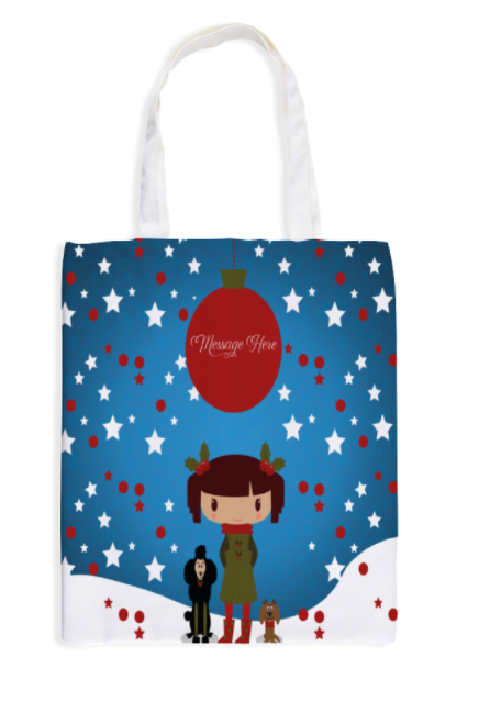 "Canvas Tote Bag with Inside Zip Pocket 38cm & 42cm (15"" x 16.5"")"