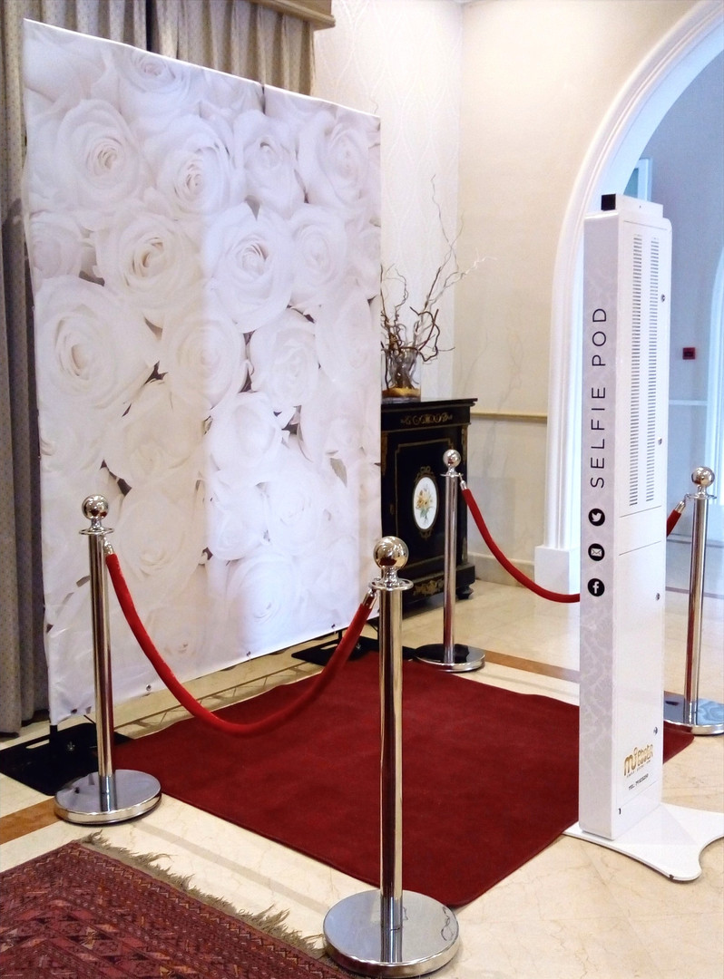 Open Photo Booth Setup for Weddings