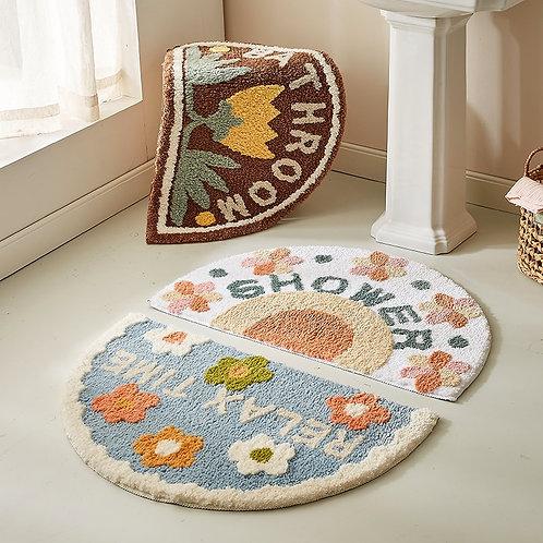 Bathroom Floret Carpet, Beautiful designs to choose from, Anti Slip