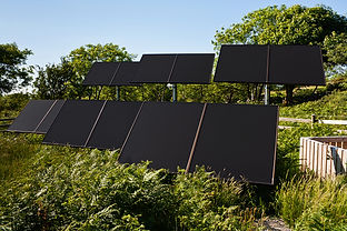 Small Solar farm in a rural countryside