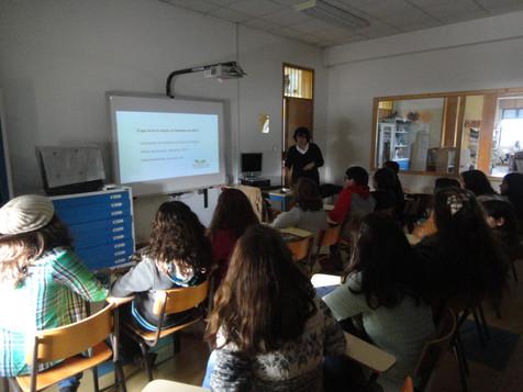 Ações de sensibilização para o projeto Restolho | Voluntários: Escola Mestre Martins Correia Golegã