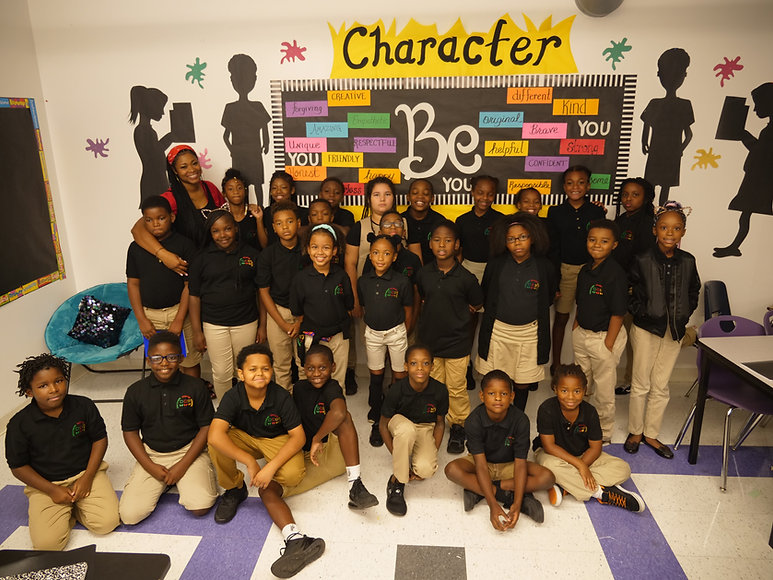 Photo of Discovery Charter School kids and teacher