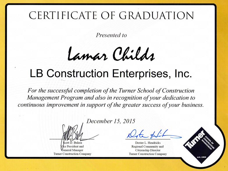 LB Construction Enterprise - Leader in Rebar | Our Certifications ...