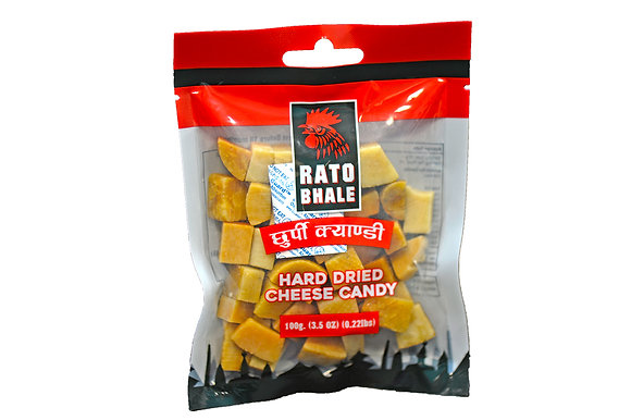 Rato Bhale Hard Dried Cheese Candy