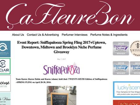 香水のオンラインメディア「Ca Fleure Bon」のメンション