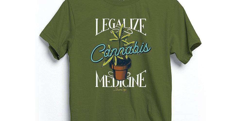 Legalize Medicine Hemp Tee