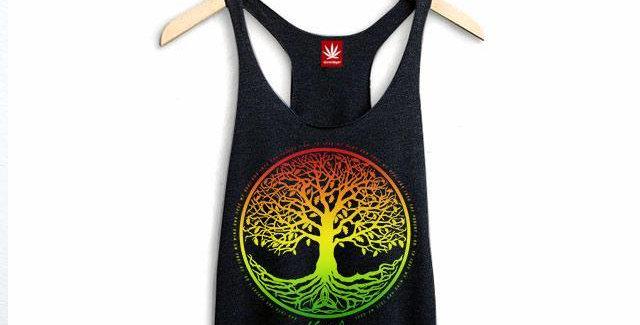 Rasta Tree of Life Y-Back Tank