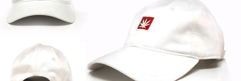White Dad Clasp-Back Hat