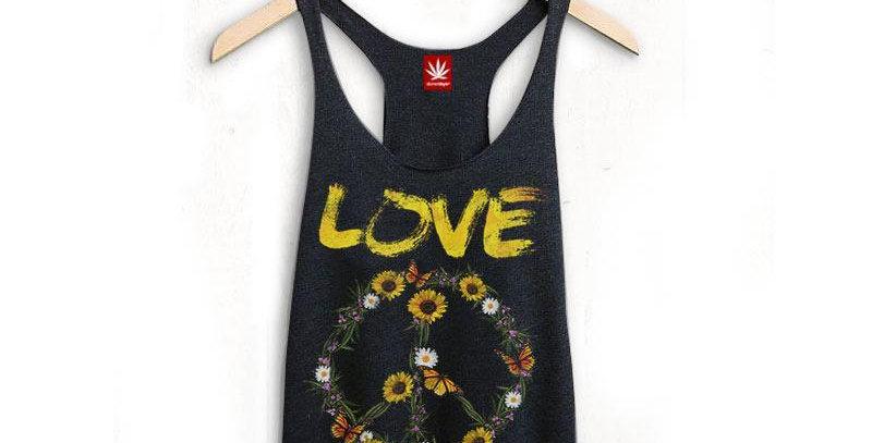 Peace/Love Racerback Tank