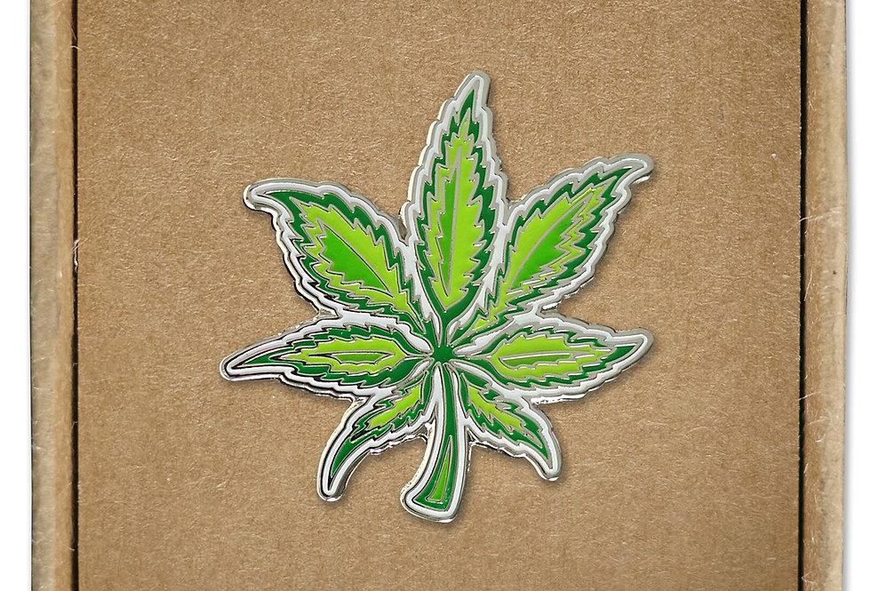 Canna Leaf Hard Enamel Pin