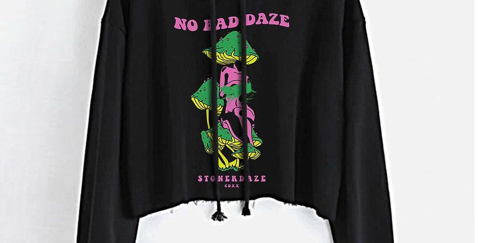 No Bad Daze Crop Top Hoodie