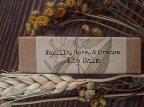 Vanilla Rose & Orange Lip Balm
