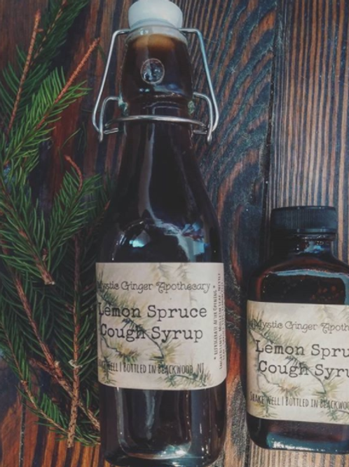 Lemon Spruce Cough Syrup 8oz
