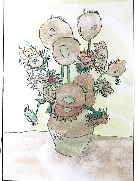 Les quatorze tournesols dans un vase de Van Gogh..
