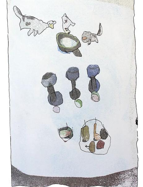 Les trois petits chiens qui boivent une potion magique