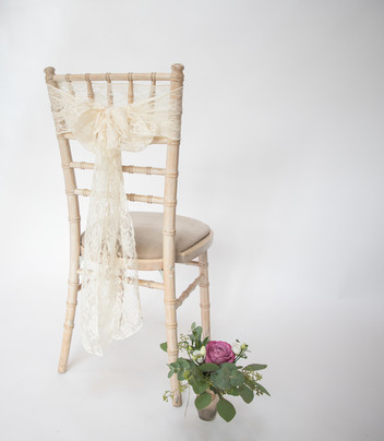 Ivory Lace Chair Sash